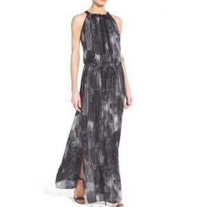Elie Tahari York Silk Cocktail Maxi Dress - Small